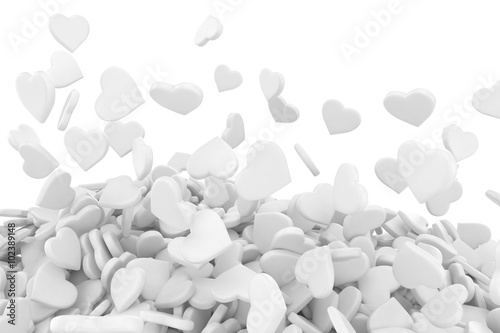 Foto op Canvas Kruiderij 3d background made from many hearts