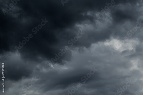 Canvas Prints Heaven Dark clouds before a thunder-storm
