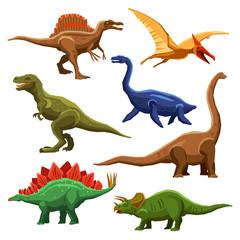 Fototapeta Dinosaurs Color Icons Iet
