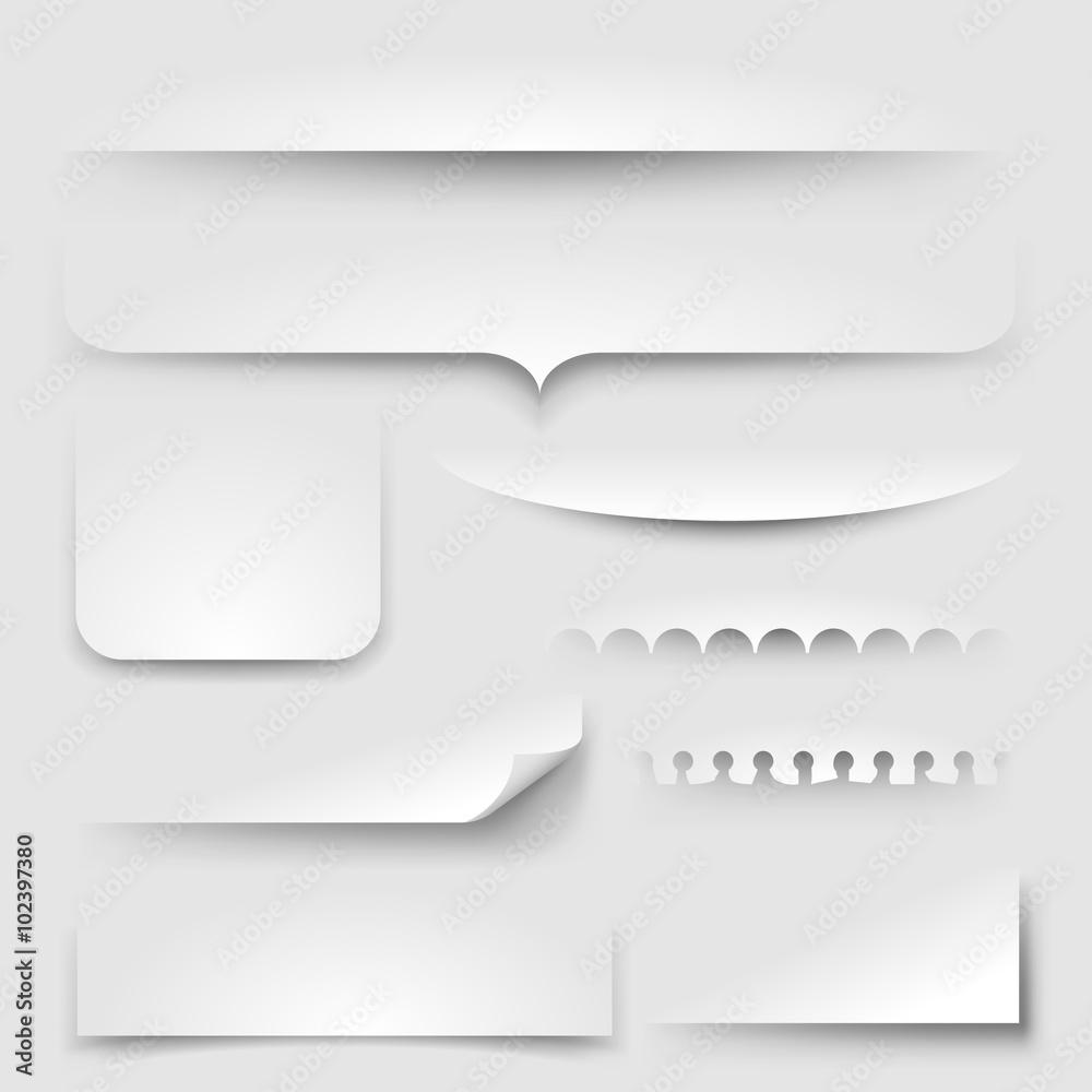 Fototapeta Paper shadows, eps10 vector