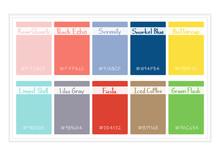 Palette Colors 2016 Vector Illustretion