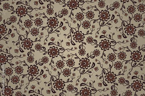 bez-szwu-kwiatowy-wzor-w-odcieniach-brazu