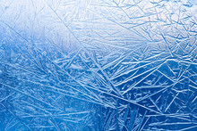 Frozen Window. Ice Texture. Ma...