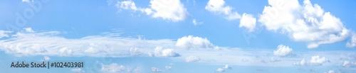 Fotografie, Obraz  Panorama blauer Himmel mit Wolken