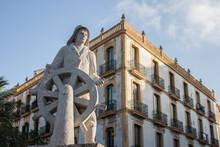Statue Am Hafen Von Ibiza Stadt
