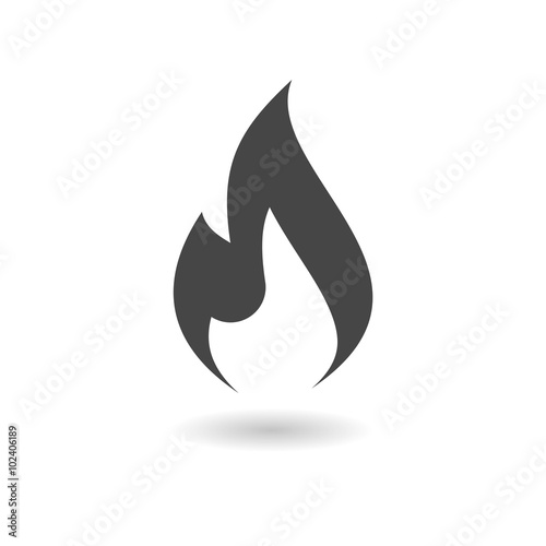 Gas Flame Icon Fototapet