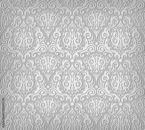 Fototapety, obrazy: Grey wallpaper pattern