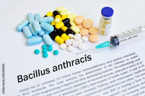 Drugs for Bacillus anthracis (Anthrax) treatment Wallpaper Mural