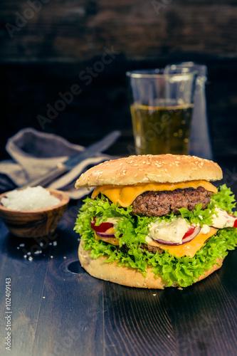 Fotobehang Restaurant Delikater Burger