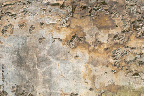 Deurstickers Oude vuile getextureerde muur old chipped plaster on the concrete wall texture background