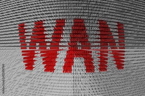 Fotografía  WAN presented in the form of binary code