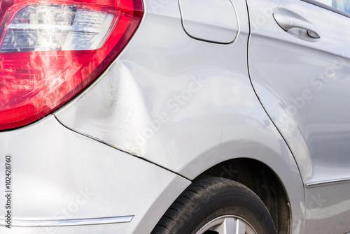 Kfz Unfall Schaden Delle Auto Blech