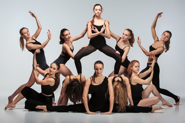 FototapetaThe group of modern ballet dancers