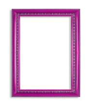 Purple Frame Isolated On White Background
