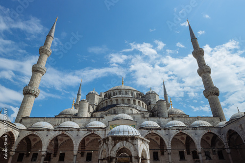 Photo  Blue Mosque of Istanbul, also known as Sultanahmet