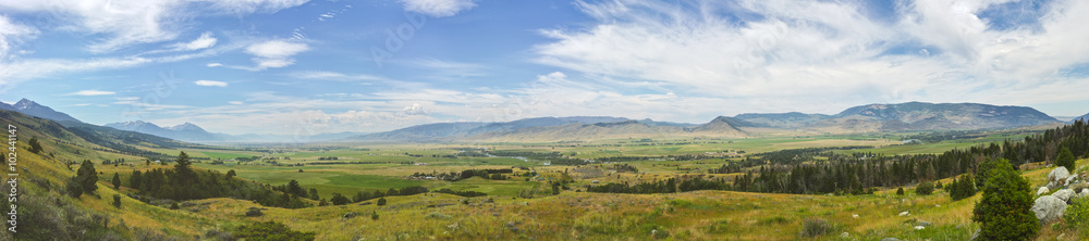 Fototapety, obrazy: Montana's Paradise Valley in Panorama