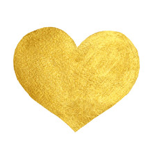 Heart Love Gold Watercolor Tex...