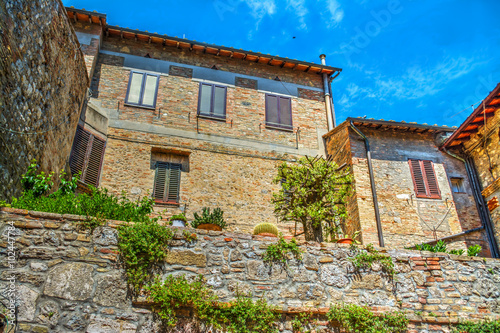 Fototapety, obrazy: Picturesque building in San Gimignano