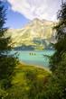 Walking around Sils lake in the upper Engadine Valley (Switzerland)