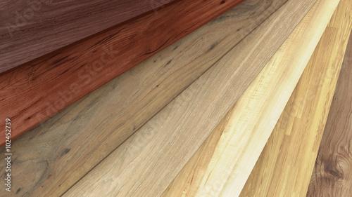 Obraz Flooring laminate or parquet samples - fototapety do salonu