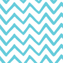 Abstract Light Blue Zig Zag Se...