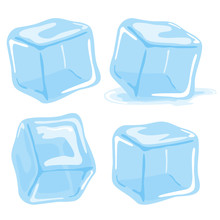 Ice Cubes And Melted Ice Cube ...