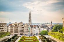 Vistas De Bruselas Al Atardecer