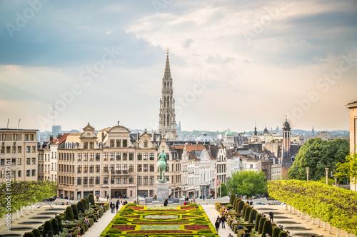 Foto op Canvas Brussel vistas de bruselas al atardecer