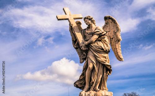 Fotografie, Obraz  Angel Marble Statue