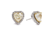 Gorgeous Heart Shaped Yellow D...