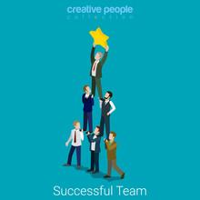 Successful Dream Team Teamwork...