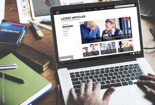 Photo Lastest Article Webpage Advertising Announcement Concept