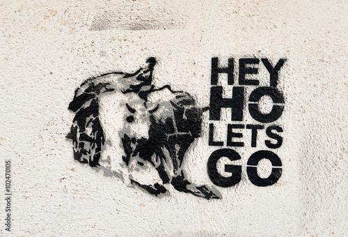 Fotografie, Tablou Hey Ho Let's Go Graffiti