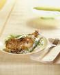 Roast chicken served on plate