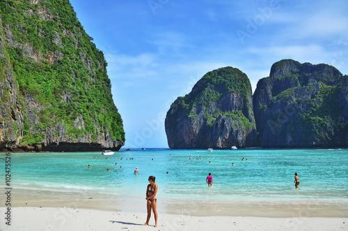 Photo  Maya bay Phi Phi Leh island, Thailand