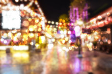 Blurred Background. Night City...