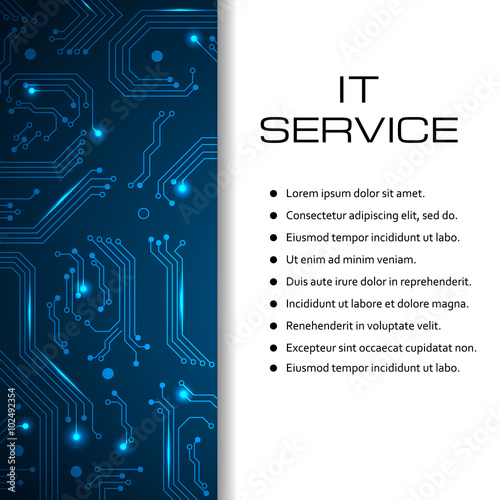 it service vector banner can be used for page website web design