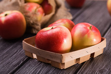 Small Box With Apples