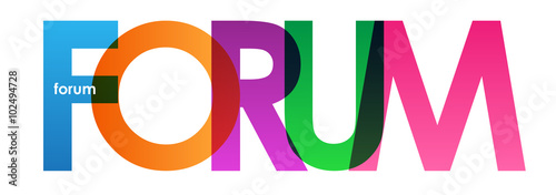Photo  FORUM Colourful Vector Letters icon
