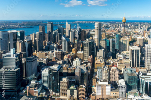 Canvas Prints Sydney Sydney Central business district from the air
