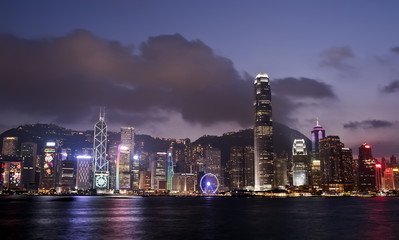 The skyline of Hong Kong is considered one of the best in the world, with the surrounding mountains and Victoria Harbour complementing the skyscrapers
