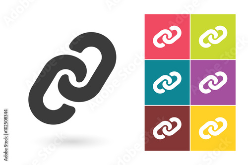 Photo Link vector icon or link symbol