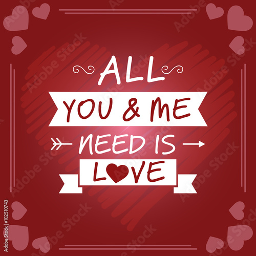 Photo  All You & Me Need Is Love