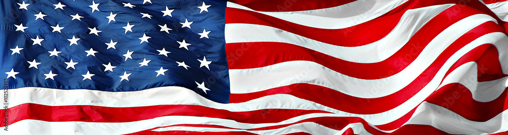 Fototapety, obrazy: Panorama of american flag