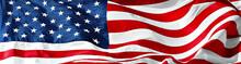 Panorama Of American Flag