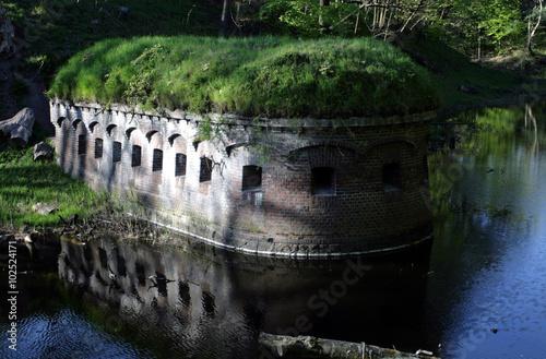 Fotobehang Vestingwerk Fort i fosa