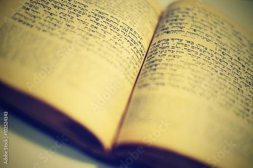Fototapeta nice old jewish book