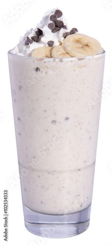 Foto op Aluminium Milkshake Banana Chocolate Chip Milkshake