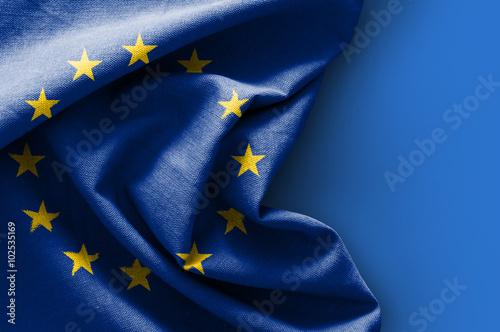 Flag of Europe on blue background