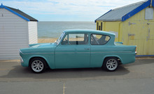 Classic Blue Ford Anglia By Be...